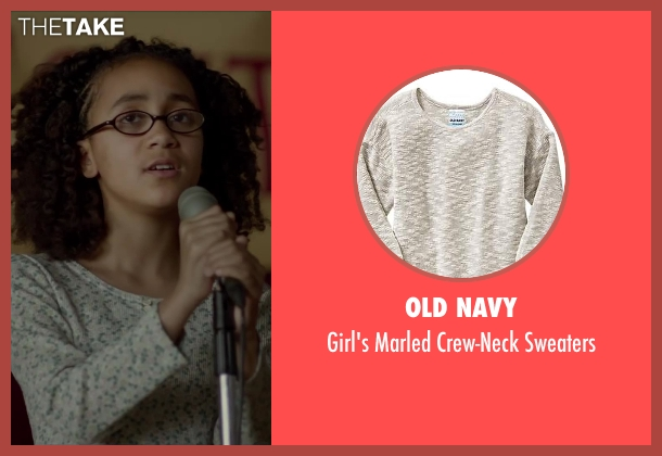 Old Navy white sweaters from Beyond the Lights seen with India Jean-Jacques (Young Noni)