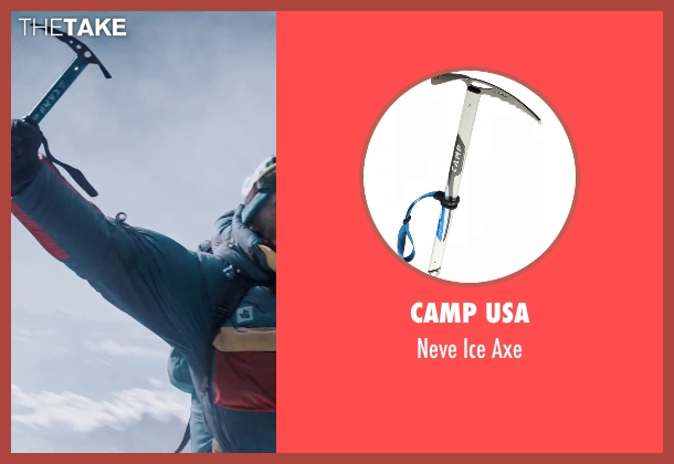 Camp USA axe from Everest seen with Ingvar Eggert Sigurðsson (Anatoli Boukreev)