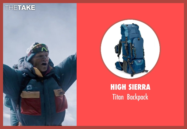 High Sierra blue backpack from Everest seen with Ingvar Eggert Sigurðsson (Anatoli Boukreev)