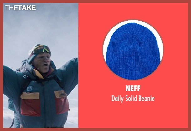 Neff blue beanie from Everest seen with Ingvar Eggert Sigurðsson (Anatoli Boukreev)