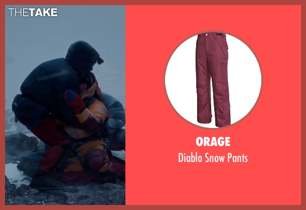 Orage red pants from Everest seen with Ingvar Eggert Sigurðsson (Anatoli Boukreev)
