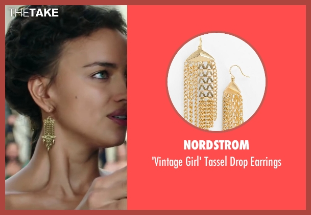 Nordstrom gold earrings from Hercules seen with Irina Shayk (Megara)