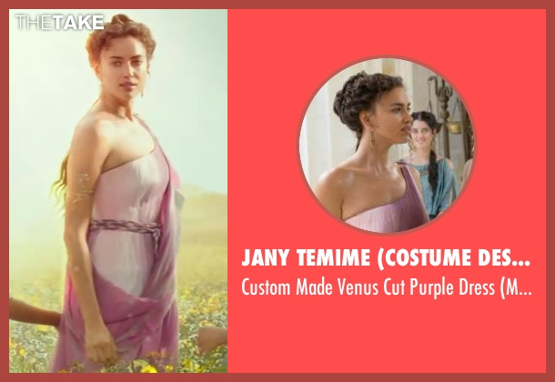 Jany Temime (Costume Designer) purple dress from Hercules seen with Irina Shayk (Megara)