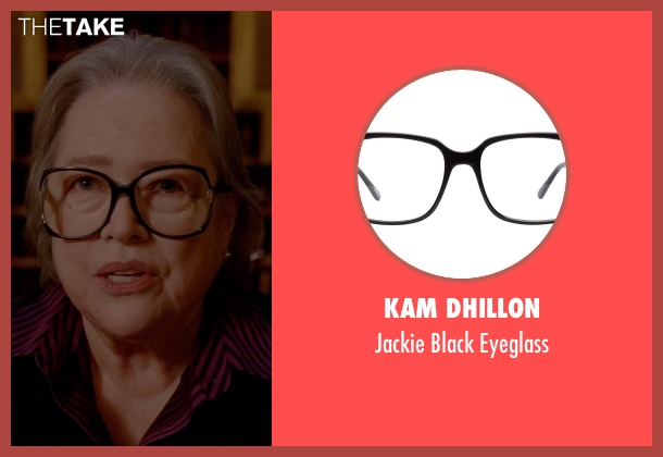 Kam Dhillon black eyeglass from American Horror Story seen with Iris (Kathy Bates)