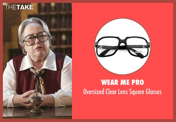 Wear Me Pro black glasses from American Horror Story seen with Iris (Kathy Bates)