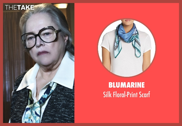 Blumarine blue scarf from American Horror Story seen with Iris (Kathy Bates)