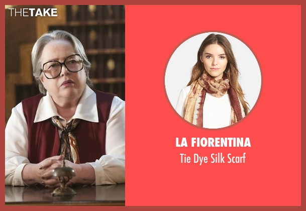 La Fiorentina brown scarf from American Horror Story seen with Iris (Kathy Bates)