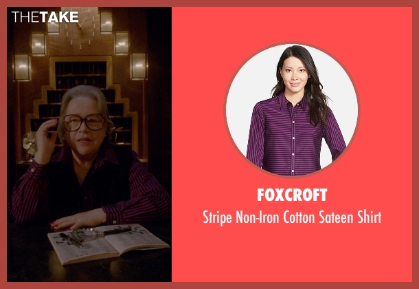 Foxcroft purple shirt from American Horror Story seen with Iris (Kathy Bates)
