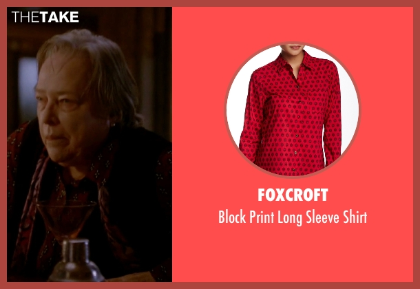 Foxcroft red shirt from American Horror Story seen with Iris (Kathy Bates)