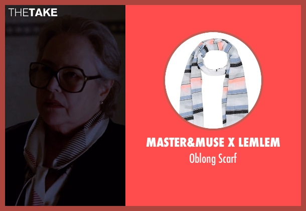 Master&Muse x Lemlem white scarf from American Horror Story seen with Iris (Kathy Bates)