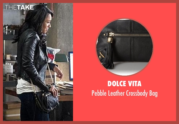 Dolce Vita black bag from The Flash seen with Iris West / Iris West-Allen (Candice Patton)