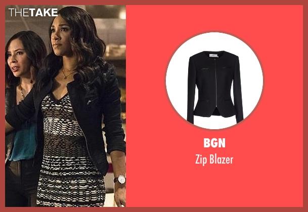 BGN black blazer from The Flash seen with Iris West / Iris West-Allen (Candice Patton)