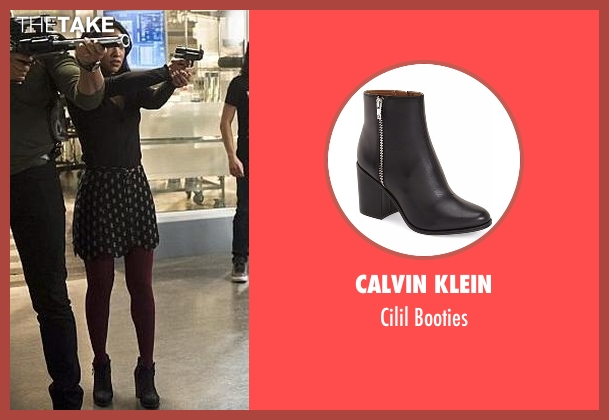 Calvin Klein black booties from The Flash seen with Iris West / Iris West-Allen (Candice Patton)