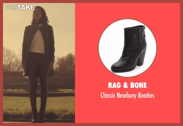 Rag & Bone  black booties from The Flash seen with Iris West / Iris West-Allen (Candice Patton)