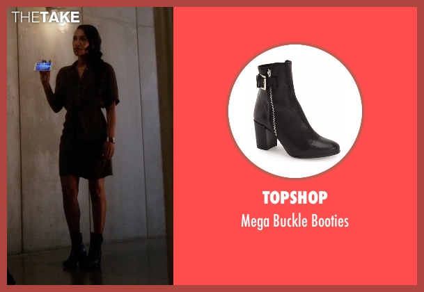 Topshop black booties from The Flash seen with Iris West / Iris West-Allen (Candice Patton)
