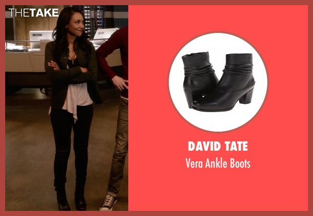 David Tate black boots from The Flash seen with Iris West / Iris West-Allen (Candice Patton)