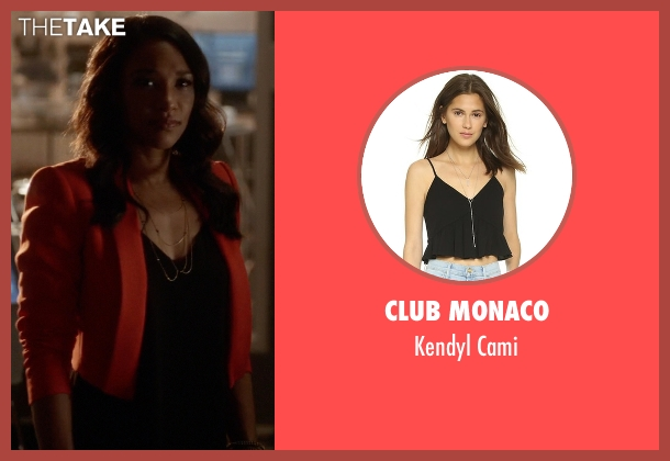 Club Monaco black cami from The Flash seen with Iris West / Iris West-Allen (Candice Patton)