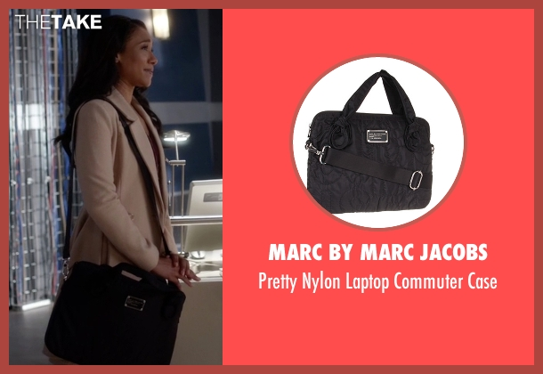 Marc By Marc Jacobs black case from The Flash seen with Iris West / Iris West-Allen (Candice Patton)