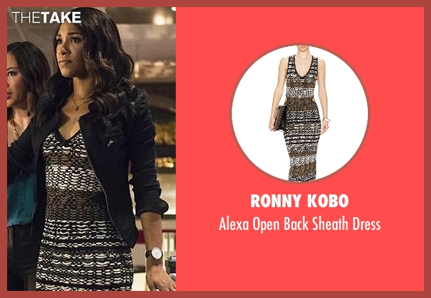 Ronny Kobo black dress from The Flash seen with Iris West / Iris West-Allen (Candice Patton)