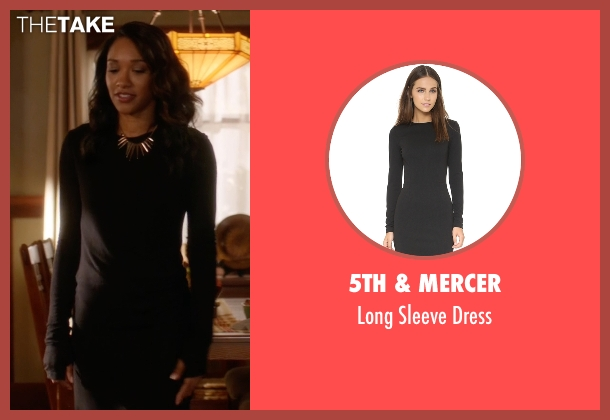 5th & Mercer black dress from The Flash seen with Iris West / Iris West-Allen (Candice Patton)