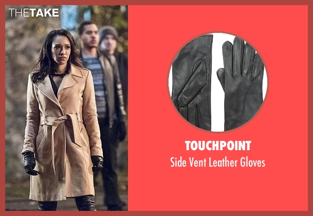 Touchpoint black gloves from The Flash seen with Iris West / Iris West-Allen (Candice Patton)