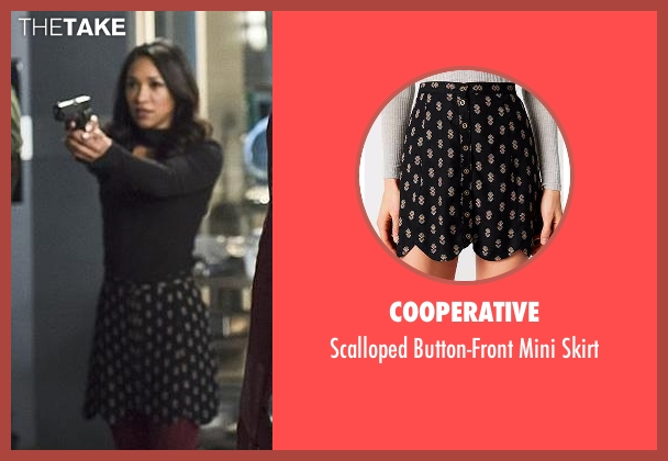 Cooperative black skirt from The Flash seen with Iris West / Iris West-Allen (Candice Patton)