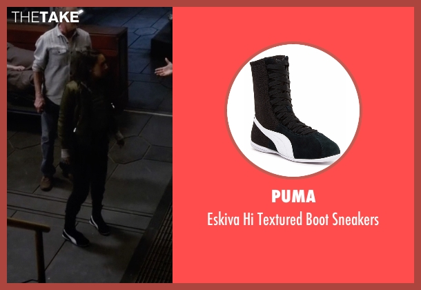 Puma black sneakers from The Flash seen with Iris West / Iris West-Allen (Candice Patton)