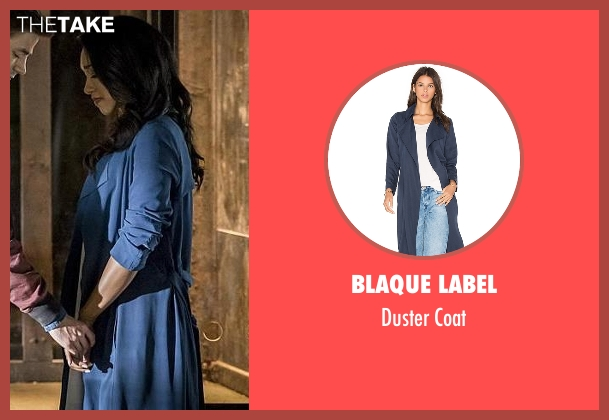 Blaque Label blue coat from The Flash seen with Iris West / Iris West-Allen (Candice Patton)