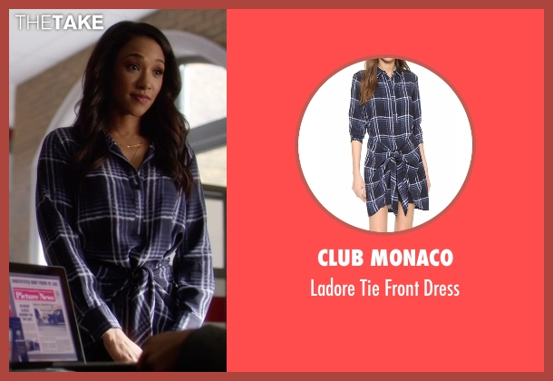 Club Monaco blue dress from The Flash seen with Iris West / Iris West-Allen (Candice Patton)