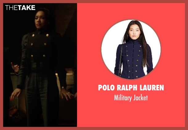 Polo Ralph Lauren blue jacket from The Flash seen with Iris West / Iris West-Allen (Candice Patton)