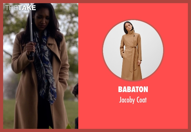 Babaton brown coat from The Flash seen with Iris West / Iris West-Allen (Candice Patton)