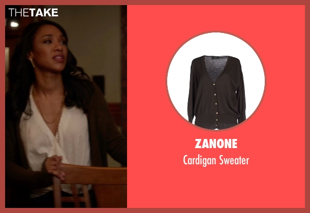 Zanone brown sweater from The Flash seen with Iris West / Iris West-Allen (Candice Patton)