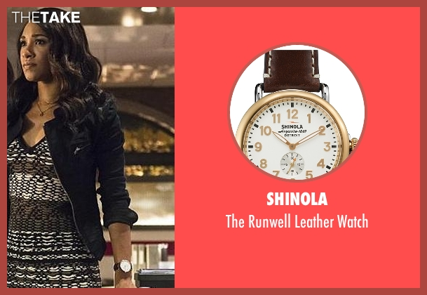 Shinola brown watch from The Flash seen with Iris West / Iris West-Allen (Candice Patton)