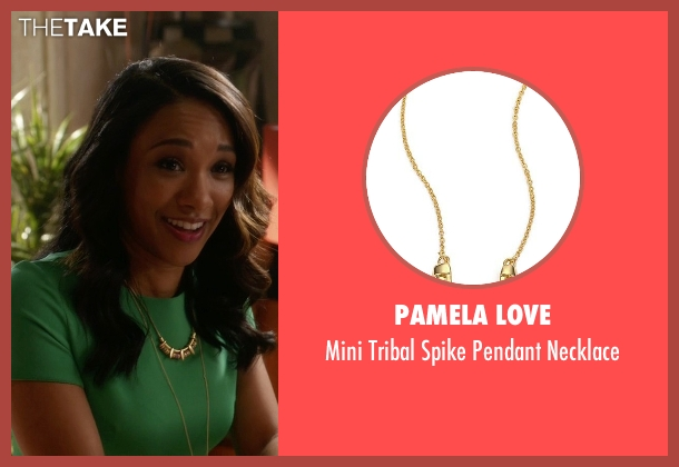 Pamela Love gold necklace from The Flash seen with Iris West / Iris West-Allen (Candice Patton)