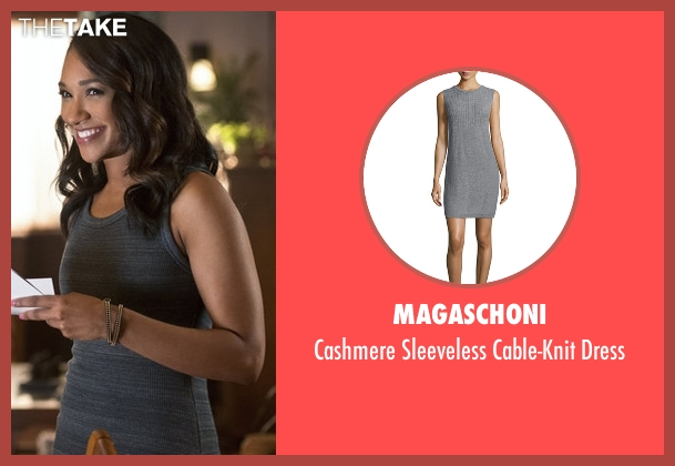 Magaschoni gray dress from The Flash seen with Iris West / Iris West-Allen (Candice Patton)