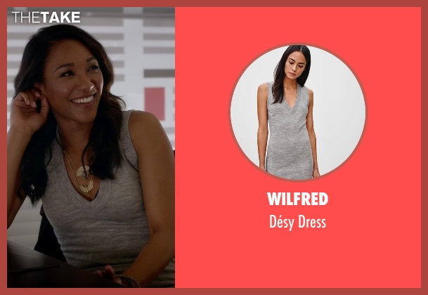 Wilfred gray dress from The Flash seen with Iris West / Iris West-Allen (Candice Patton)