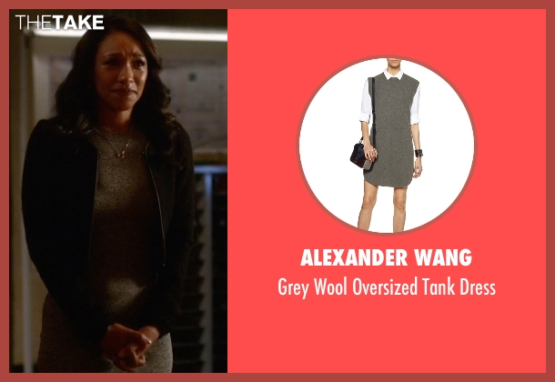 Alexander Wang gray dress from The Flash seen with Iris West / Iris West-Allen (Candice Patton)
