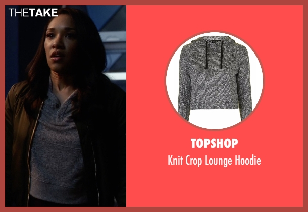 Topshop gray hoodie from The Flash seen with Iris West / Iris West-Allen (Candice Patton)