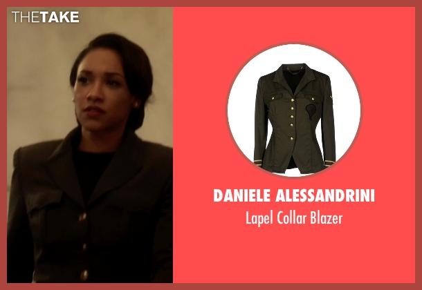 Daniele Alessandrini green blazer from The Flash seen with Iris West / Iris West-Allen (Candice Patton)