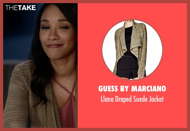 Guess by Marciano  green jacket from The Flash seen with Iris West / Iris West-Allen (Candice Patton)
