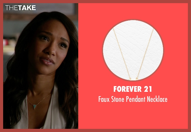 Forever 21 green necklace from The Flash seen with Iris West / Iris West-Allen (Candice Patton)
