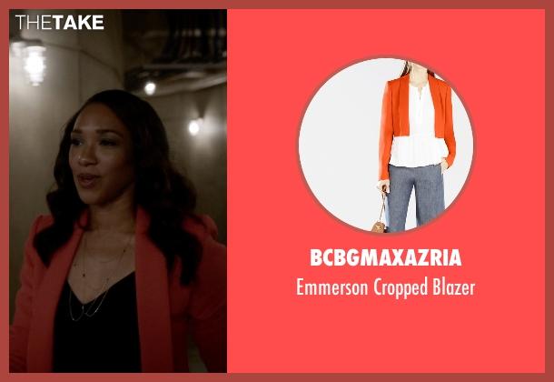 BCBGMAXAZRIA orange blazer from The Flash seen with Iris West / Iris West-Allen (Candice Patton)