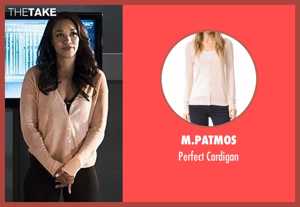 M.Patmos pink cardigan from The Flash seen with Iris West / Iris West-Allen (Candice Patton)