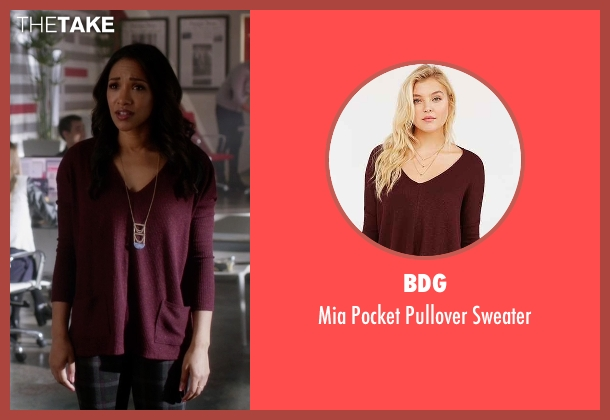 BDG red pullover sweater from The Flash seen with Iris West / Iris West-Allen (Candice Patton)