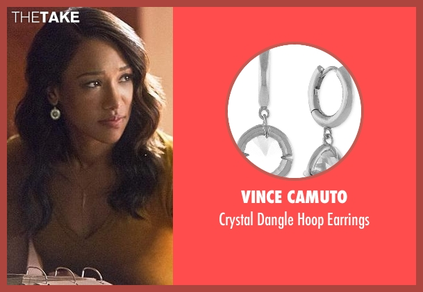 Vince Camuto silver earrings from The Flash seen with Iris West / Iris West-Allen (Candice Patton)