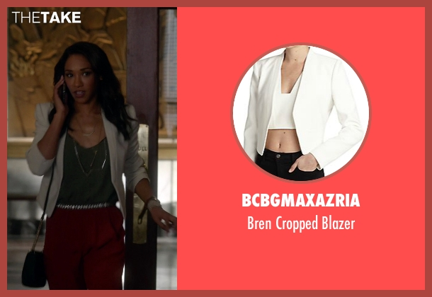 BCBGMAXAZRIA white blazer from The Flash seen with Iris West / Iris West-Allen (Candice Patton)