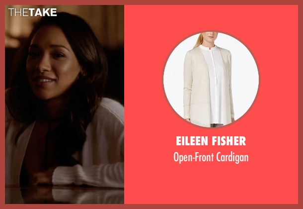 Eileen Fisher white cardigan from The Flash seen with Iris West / Iris West-Allen (Candice Patton)