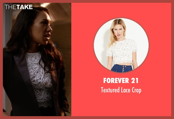 Forever 21 white crop from The Flash seen with Iris West / Iris West-Allen (Candice Patton)