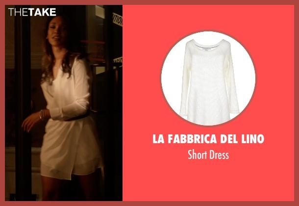 La Fabbrica Del Lino white dress from The Flash seen with Iris West / Iris West-Allen (Candice Patton)