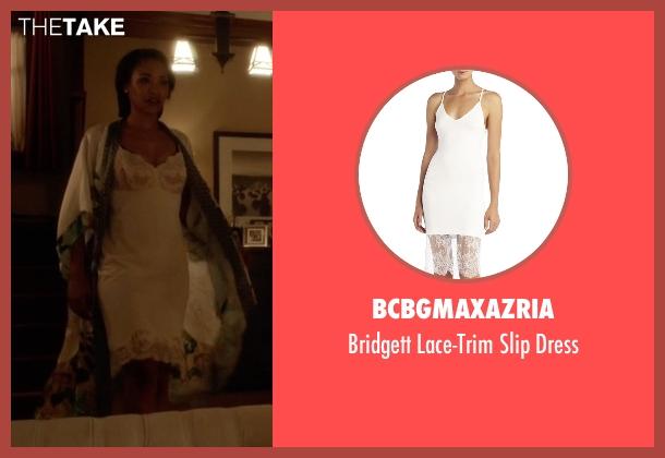 BCBGMAXAZRIA white dress from The Flash seen with Iris West / Iris West-Allen (Candice Patton)